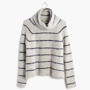 Madewell cowl neck striped sweater